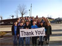 HWMS Students Thank State Farm