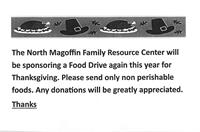 Food Drive for Thanksgiving Baskets.