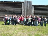 The 6th grade students at North Magoffin Elementary attended a field trip to Fort Boonesborough and White Hall.