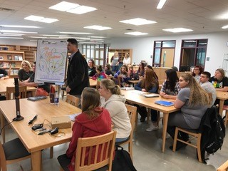 Christopher Epling broadcasting  live from Magoffin County High School. Students are working with Mrs.Brittany Campbell and Mrs. Kate Bailey to write and illustrate their own books!