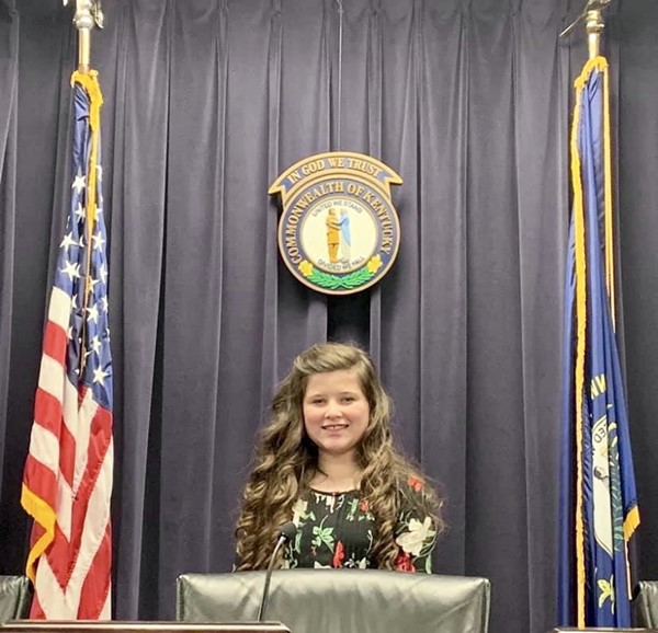 Erin Grace Rudd 5th grade student from North Magoffin