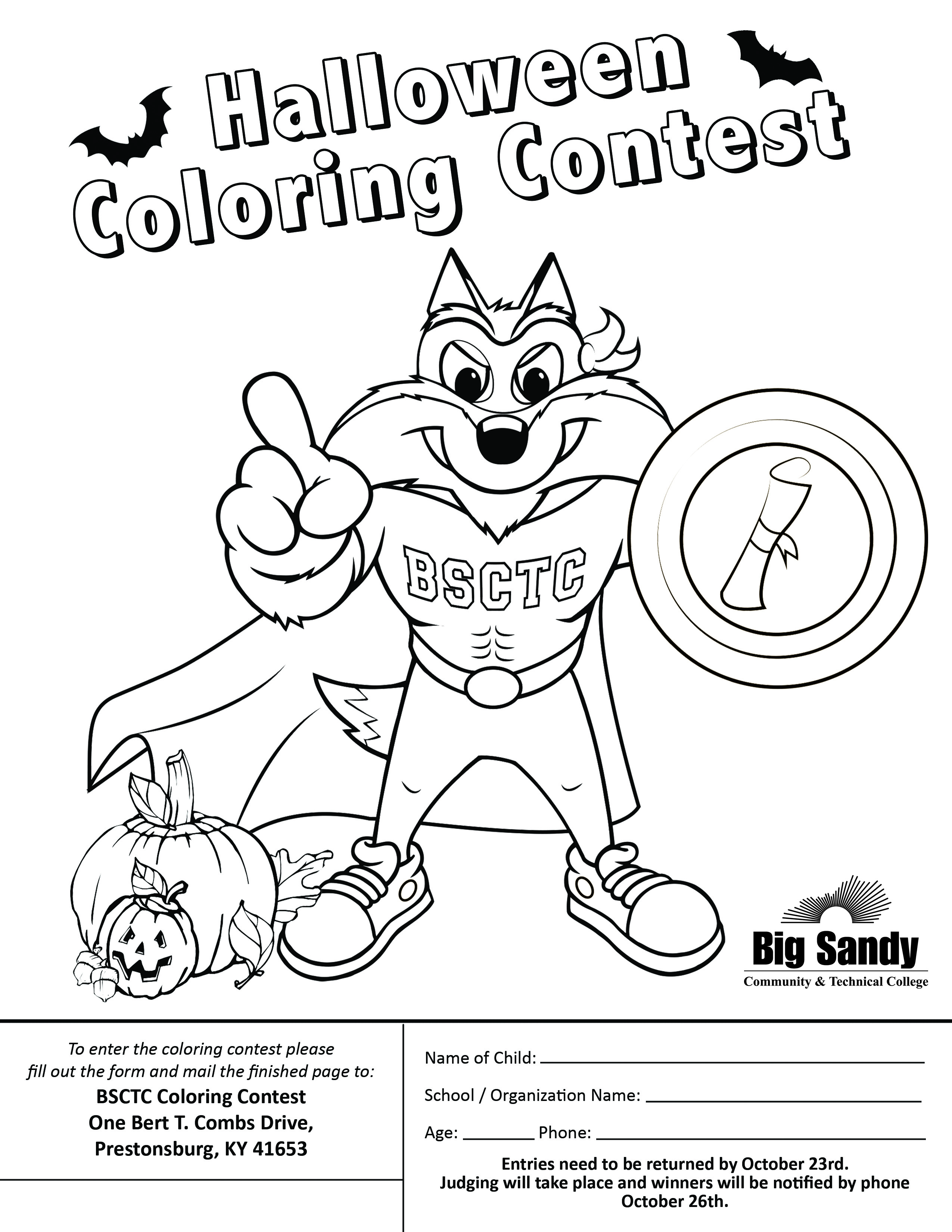 Big Sandy Community And Technical College Hosting Coloring Contest
