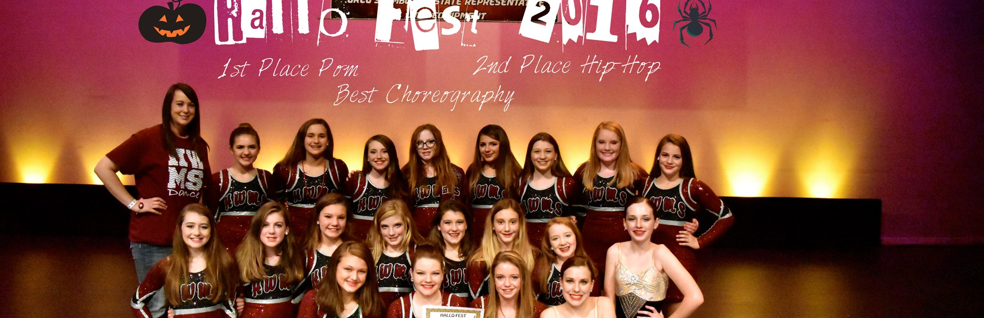HWMS Dance Team--1st Place in Pom, 2nd Place in Hip Hop at Hallofest 2016