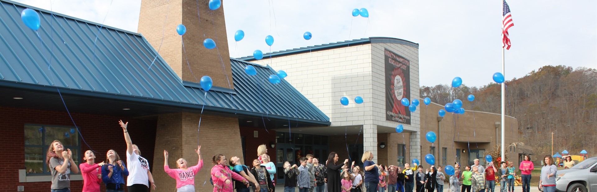 Students at North Magoffin Elementary recognized World Diabetes Awareness Day on November 14th by releasing blue balloons to honor all students battling diabetes.