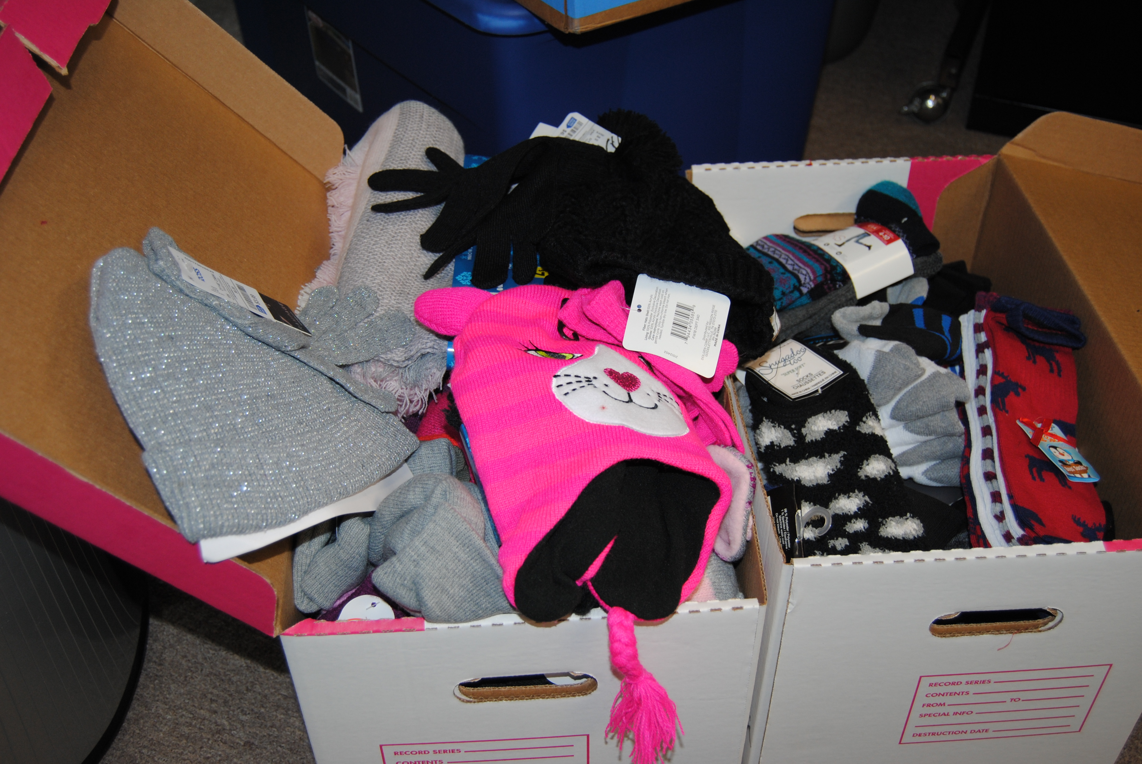 Winter Accessories Donated to NME from the East Kentucky Association of Realtors