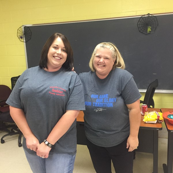 Heather Helton, Teacher NME and Melissa Holbrook, Family Advocate in SCM Training.