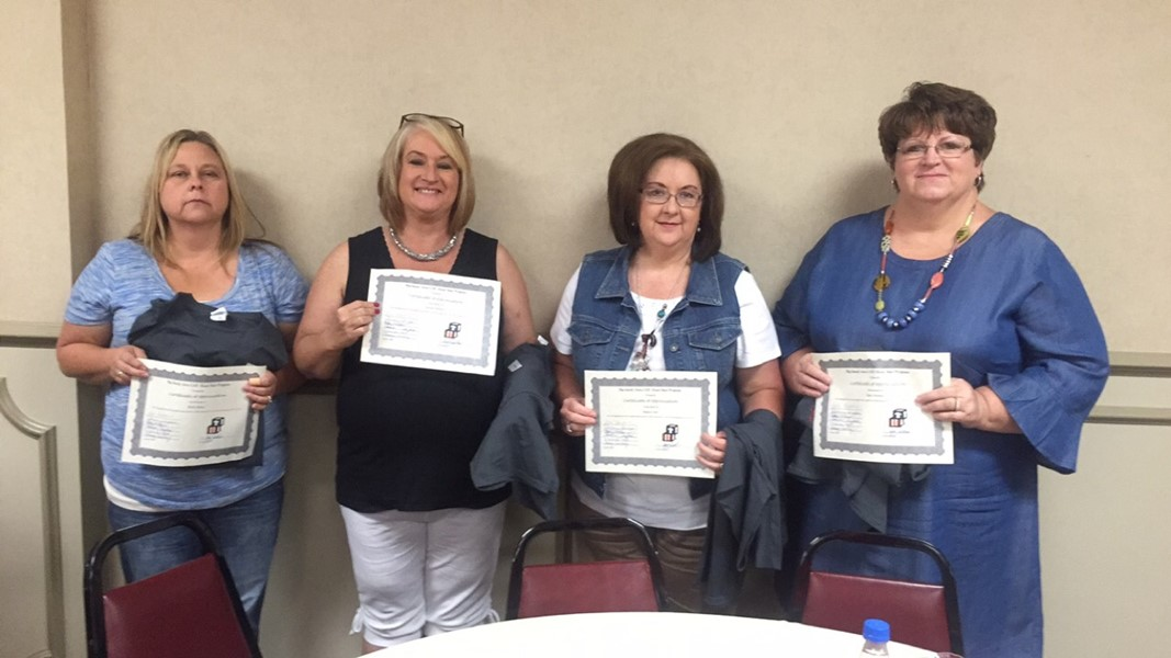 South Magoffin (Darlene Mullins and Becky Risner) and Salyersville Grade School (Betty Howard and Regina Carty)  Head Start Classes receive an AWARD for PERFECT RECORD REVIEWS for 15-16 School Year.