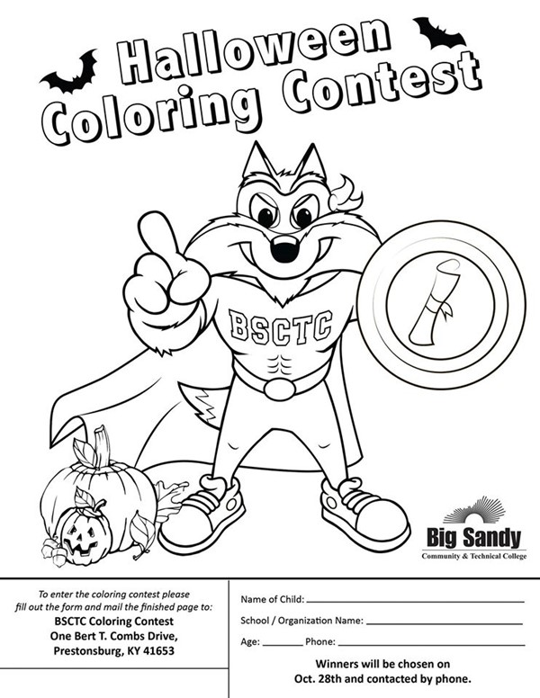 ENTER TO WIN PRIZES IN THE BSCTC HALLOWEEN COLORING